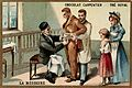 Pasteur inoculating a man with the rabies virus. Chromolitho Wellcome L0027358.jpg