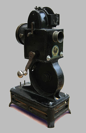 Cine film - Pathe Baby movie projector for film format 9.5 mm cine film from 1924.