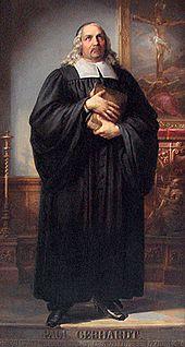 Paul Gerhardt. Das Gemälde war ein Geschenk von Friedrich Wilhelm IV. zur Einweihung der Paul-Gerhardt-Kapelle, 1844. Paul-Gerhardt-Haus, Gräfenhainichen (Quelle: Wikimedia)