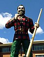 Paul Bunyan statue in Bangor, Maine.JPG