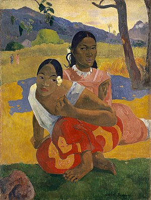 Paul Gauguin, Nafea Faa Ipoipo? 1892, oil on canvas, 101 x 77 cm.jpg