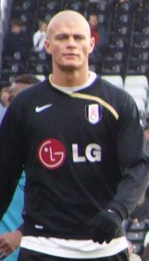 Paul Konchesky - Konchesky warming up for Fulham in 2008
