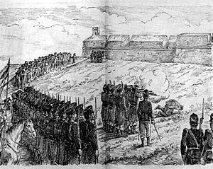 Ilustración de un periódico de la época sobre la ejecución de Paulino Pallás