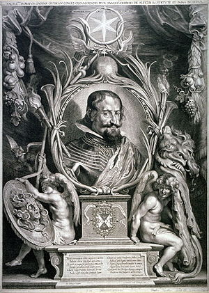 Paulus Pontius - Gaspar de Gusman, Count of Olivares, after Rubens