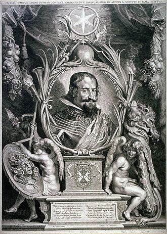 Paulus Pontius - Gaspar de Gusman, Count of Olivares, after Rubens