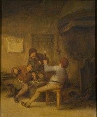 Peasants Drinking and Smoking