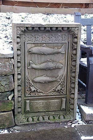 Peebles - The arms carved in stone at Northgate