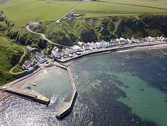 Pennan - Aerial view of Pennan village