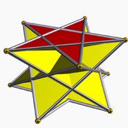 Pentagrammic crossed antiprism