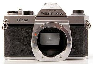 Pentax K-mount - Pentax K1000 without lens, showing the original K mount