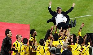 Zlatko Kranjčar - Kranjčar after winning Hazfi Cup in 2013 with Sepahan