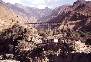 Ferrocarril Central Andino - Steel bridge near Matucana