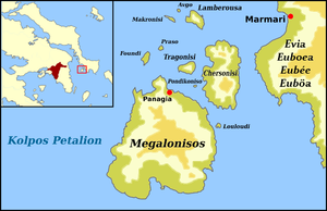 Petalioi - Map of Petalioi