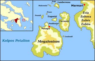 Petalioi Gulf - Petalioi Gulf (Kolpos Petalion) and Islands