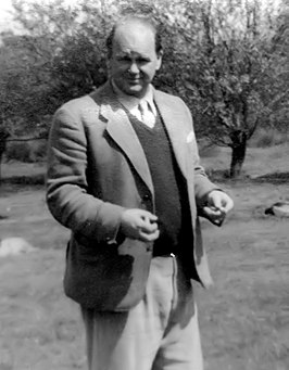 Peter Scott in 1954 (hij werd Sir Peter Scott genoemd in 1973).