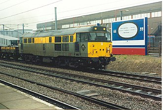 British Rail Class 31 - 31549 at Peterborough in 1994.