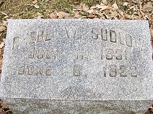 Phebe Sudlow - Image: Phebe Sudlow Grave 2