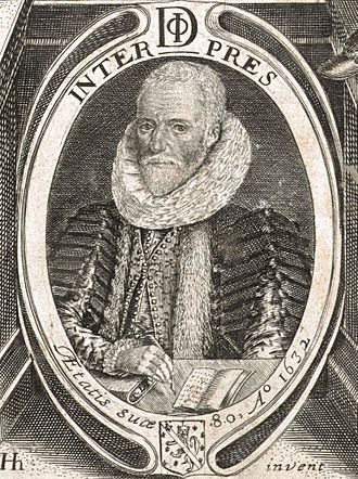 Philemon Holland - Philemon Holland, aged 80. An engraving by William Marshall, from a drawing by Henry Holland, Philemon's son, published in Philemon's translation of Xenophon's Cyrupaedia (1632).