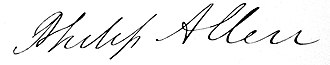 Philip Allen (politician) - Image: Philip Allen RI Governor Senator signature