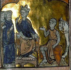 Odo Arpin of Bourges - Image: Philippe Ier achetant le comté de Bourges au comte Eudes Arpin