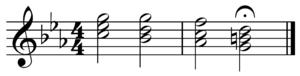 Tetrachord - Image: Phrygian half cadence in C