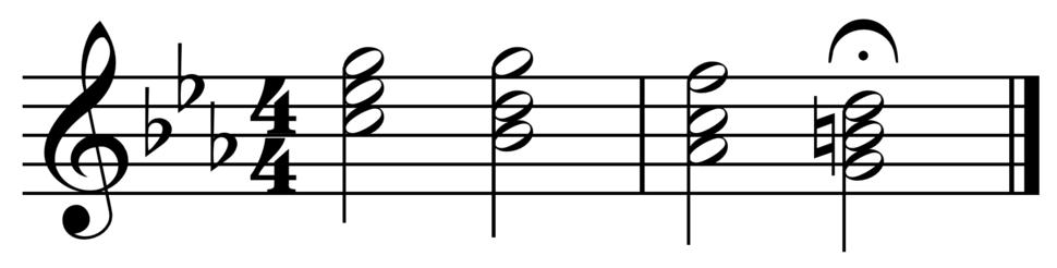 Phrygian half cadence in C