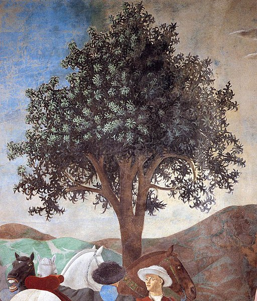 Piero della Francesca - 2a. Procession of the Queen of Sheba (detail) - WGA17494