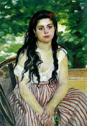 Bohemianism - Pierre-Auguste Renoir, The Bohemian (or Lise the Bohemian), 1868, oil on canvas, Berlin, Germany: Alte Nationalgalerie