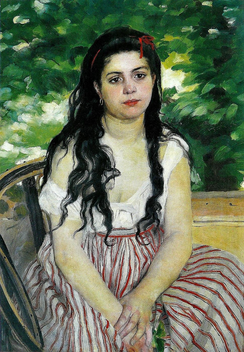 Pierre-Auguste Renoir - En été (La Bohémienne)