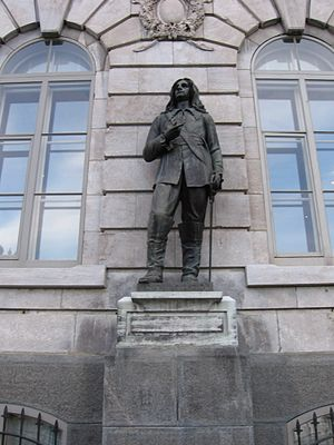 Boucherville - Statue of Pierre Boucher at the National Assembly