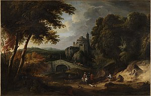 Jasper Broers - Landscape with bridge