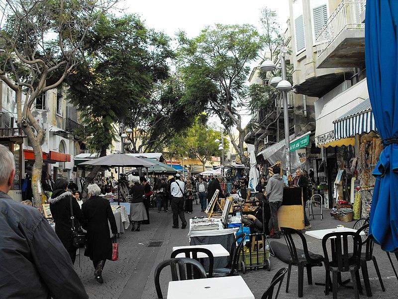 בשוק נחלת בנימין בתל-אביב