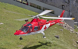 AgustaWestland AW109 - Agusta A109 K2 of the Rega over Mount Pilatus