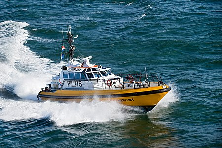 Pilot boat from port of Ijmuiden, Netherlands