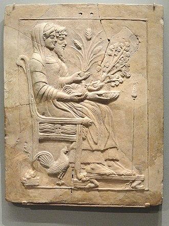 Pinax - Terracotta pinax of Persephone and Hades from Locri (Museo Nazionale di Reggio di Calabria)