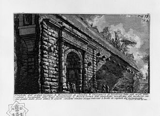 Arch of Claudius (British victory) - 1756 sketch of the ruins of the Arch of Claudius