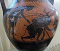 Pittore andokides, anfora a figure nere con eracle e cerbero, 530 ac. ca, 03.JPG