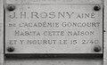 Plaque J.-H. Rosny aîné, 47 rue de Rennes, Paris 6.jpg