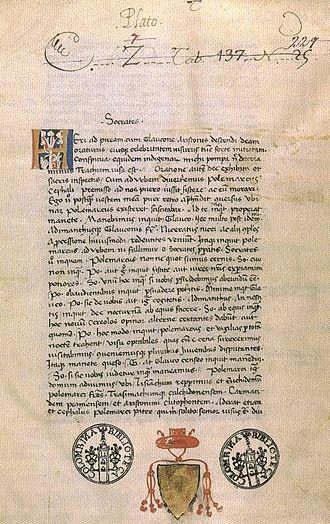 Myth of Er - A Renaissance manuscript Latin translation of The Republic