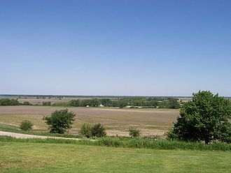 Platte River - Platte River valley west of Omaha, Nebraska