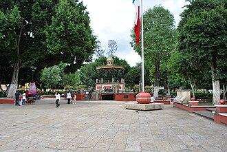 Siege of Huajuapan de León - The main square in Huajuapan's Independence Park.