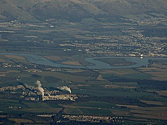 Alloa - Alloa from the air above Stirlingshire
