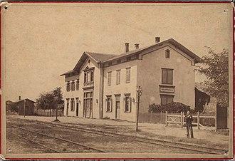 Plovdiv Central railway station - Image: Plovdiv Train Station Around 1880