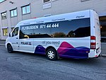 Polar Tours Flybussen (airport shuttle bus), Mo i Rana, Norway. 2017-10-09.jpg