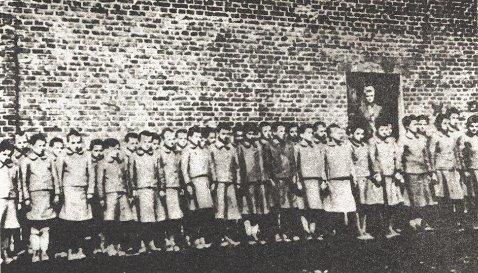 Polish children in Nazi-German labor camp in Dzierżązna