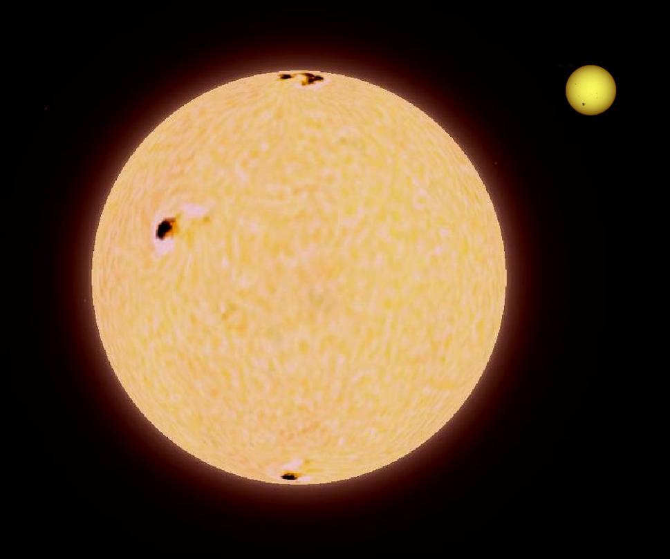 Pollux-Sun comparison