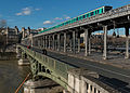 Pont de Bir-Hakaim, as seen from the 15e Arrondissement of Paris 140203 3.jpg
