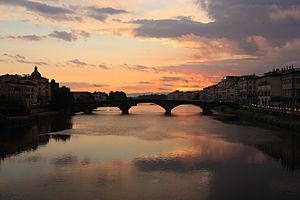 Ponte alla Carraia - At sunset