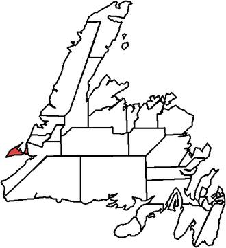 Port au Port (electoral district) - Image: Port au Port