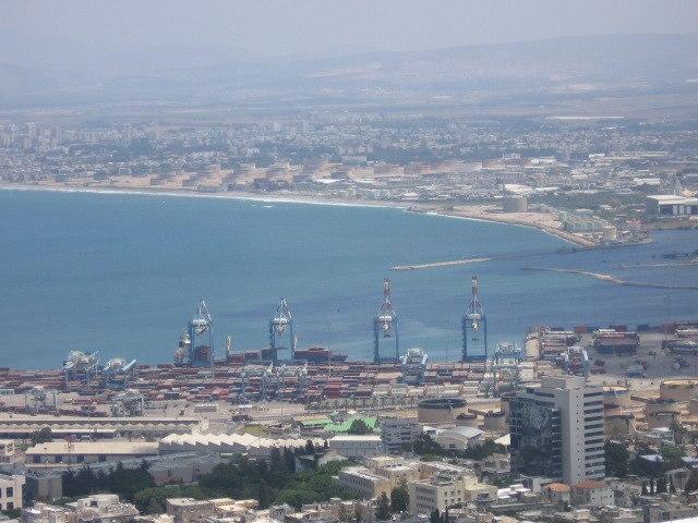 Port of Haifa - aerial view